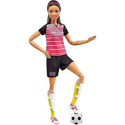 Pretend Play Barbie Made To Move Soccer Player Doll, Brunette