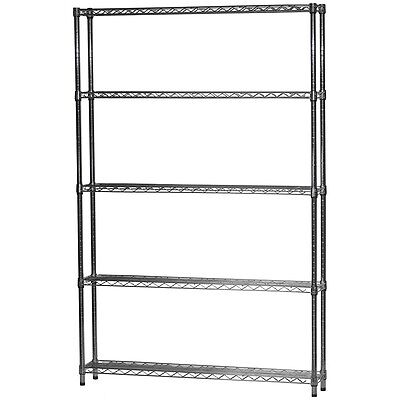 8d X 42w Chrome Wire Shelving With Five Shelves