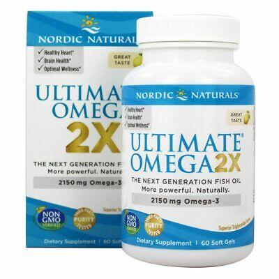 Nordic Naturals Ultimate Omega 2X Mini Lemon 2150 mg 60 Count EXP 05/21 to 09/22