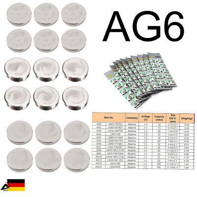 10er Blister AG6 LR921 LR69 SR920W  Uhr Batterien Knopfzellen Alkaline Batterie