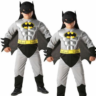 Lizenziert Batman Kostüm Kinder Metallisch Batman Superheld Kostüm - Metall Batman Kostüm