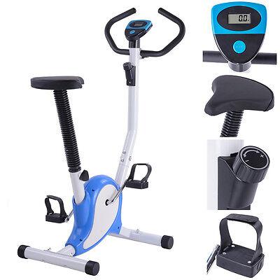 Fintess Exercise Bike Cardio Aerobic Cycling Machine Equipment Workout Gym Blue