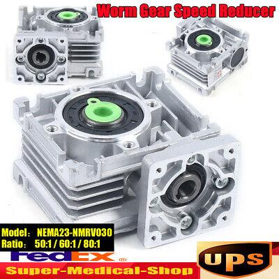 Worm Gear Box 501 601 801 Speed Reducer Reduction 11mm Input Stepper Motor Us