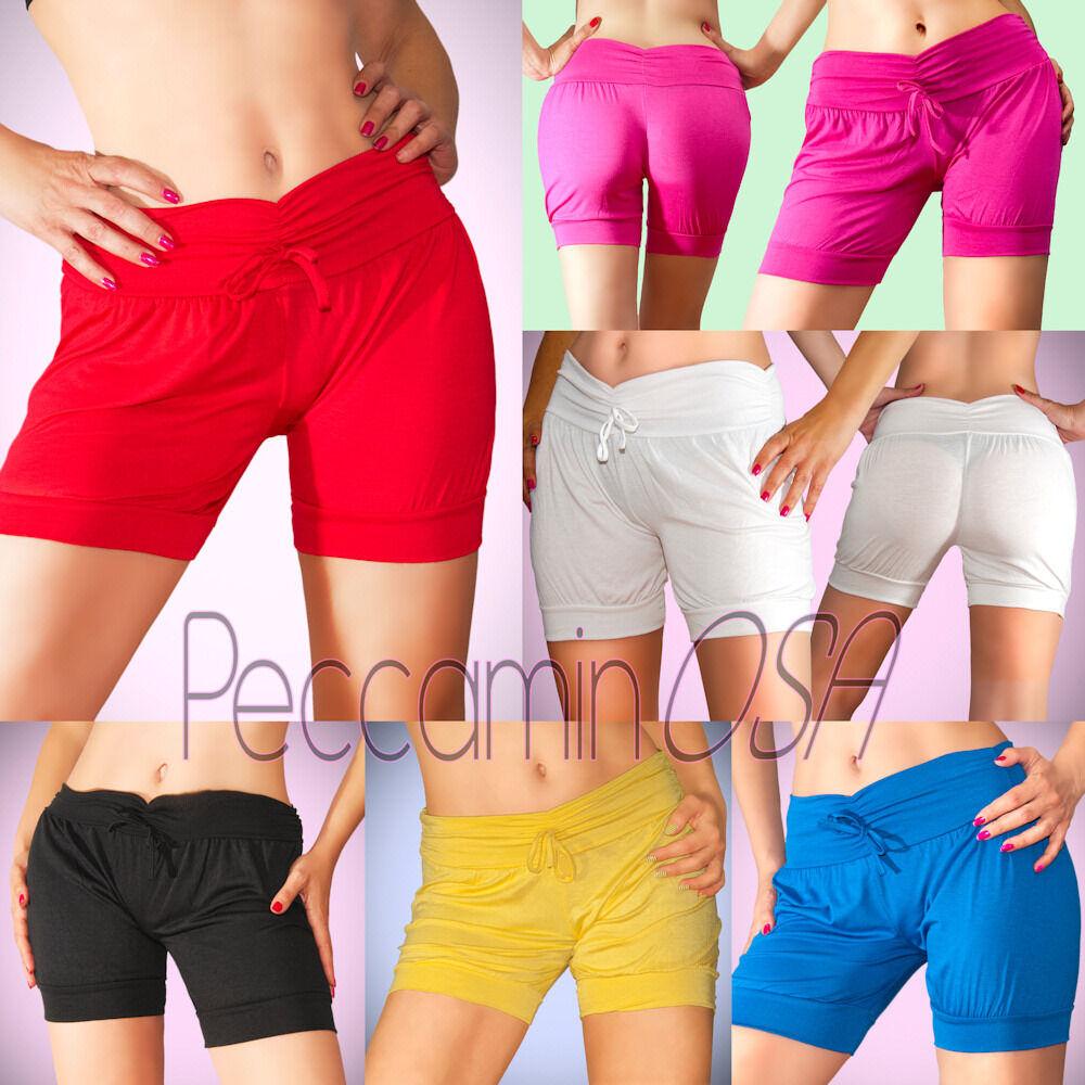 283a74b854ffec Shorts pantaloncini Donna corti Vari Colori pantaloni hot pants Mare  Palestra