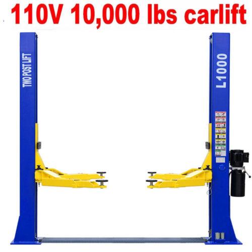 A++10,000 Lbs Capacity L1000 2 Post Lift Car Auto Truck Hoist 110v Free Shipping
