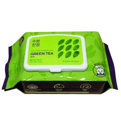 Holika Holika Pure Essence Morning Mask (Green Tea) 30pcs [Free USA Shipping]