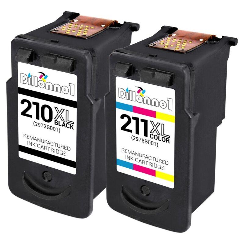 2-PK PG 210XL CL 211XL Ink For Canon PIXMA MP480 MP490 MP495 MP499 MX410 MX420