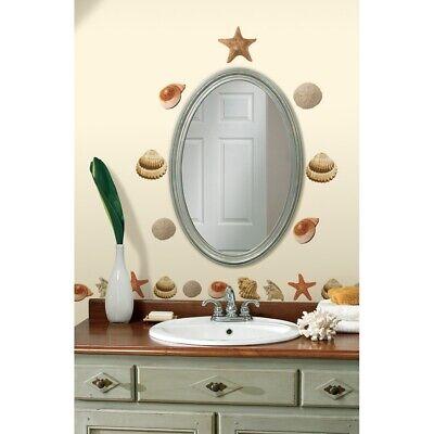 Ocean Room Decor (SEA SHELLS WALL DECALS 41 New Tropical Bathroom Stickers Ocean Room)