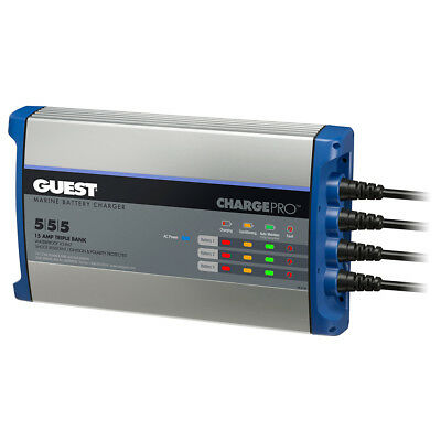 Guest On-Board Battery Charger 15A / 12V - 3 Bank - 120V Inp