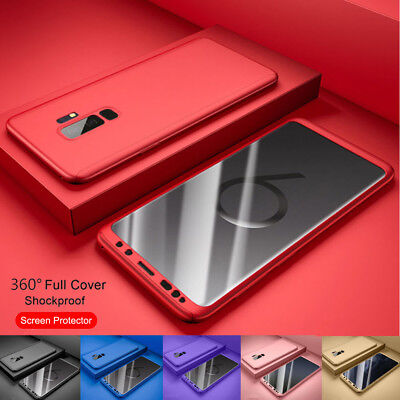 For Samsung Galaxy Note 9/S9/S8/S7/S10Plus 360° Shockproof Case+Screen Protector