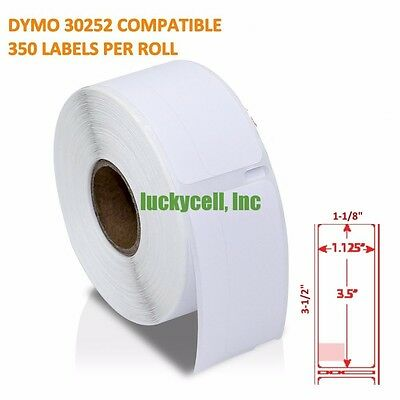 8 Rolls Of 350 Address Labels In Mini-cartons For Dymo Labelwriters 30252
