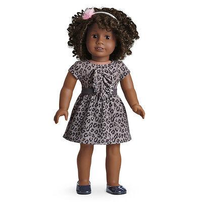 American Girl - SWEET SAVANNAH DRESS + Charm For Doll ~ NEW