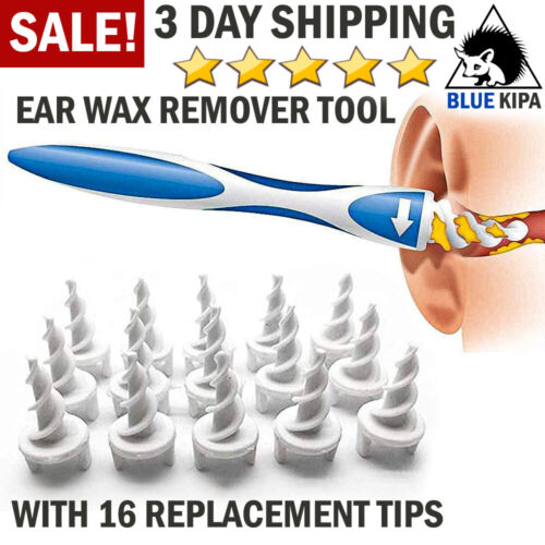 Ear Wax Remover Tool Ear Wax Cleaner Removal Spiral Picker Tips Q-Grips Care Kit