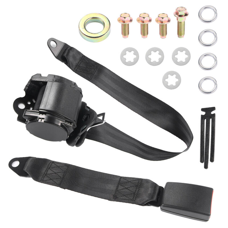 3 Point Universal Retractable Safety Seat Belt Diagonal Belt For Any Size Driver