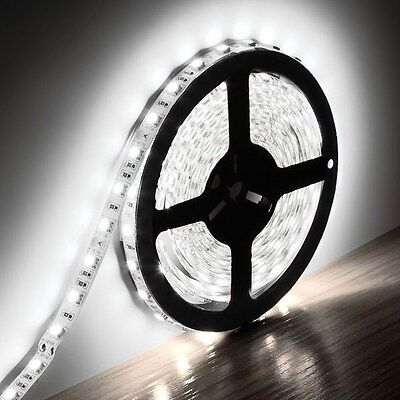 5M 5050 SMD White Flexible Strip LED Light Non-waterproof DC 12V 300 led Lamp