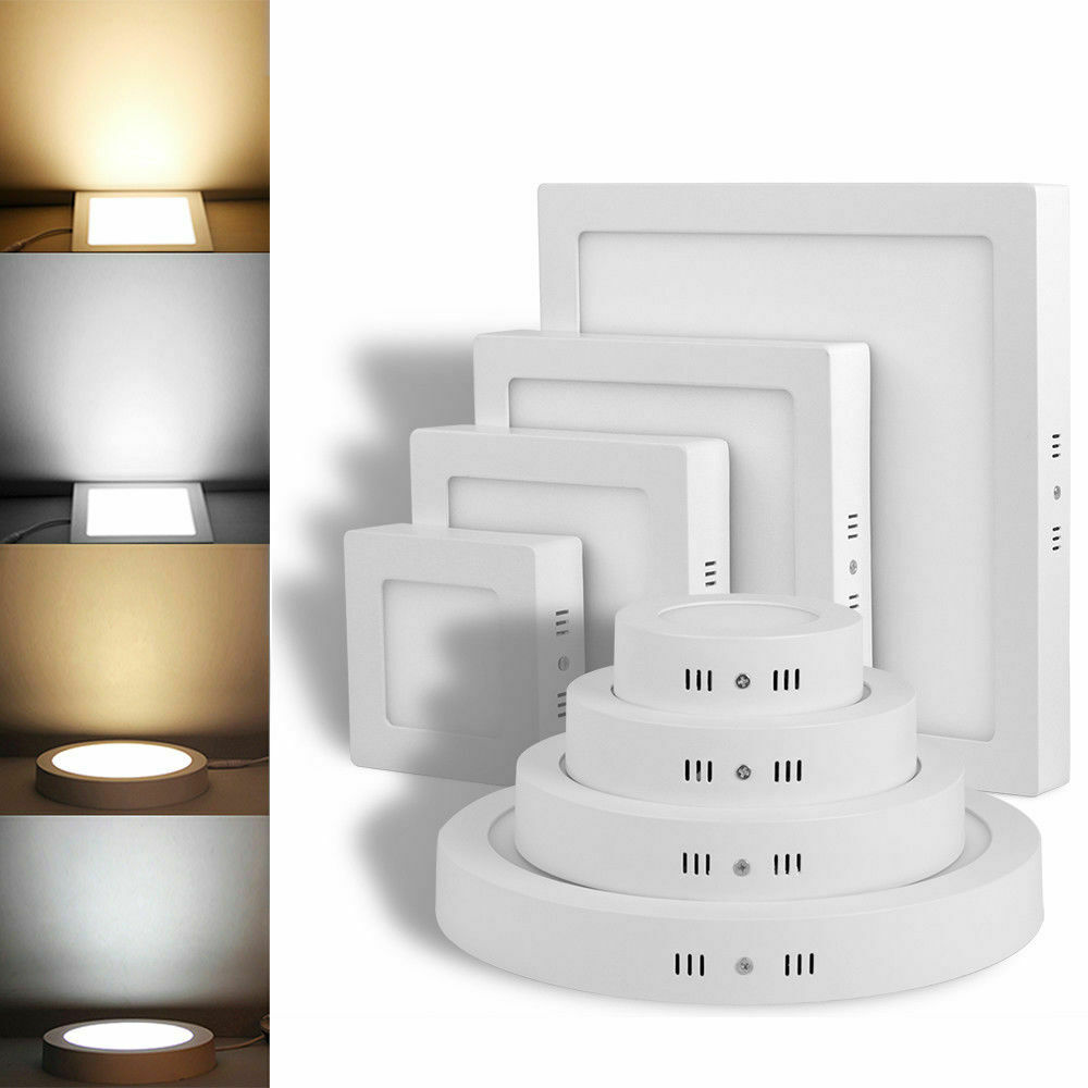 LED Panel Aufputzlampe Deckenlampe Aufputz Aufbau Wandleuchte 6W//12W//18W//24W