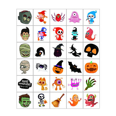 Fake Tattoos For Halloween (Fake Tattoos Halloween Pumpkin Spider Bat For Kids New 30 Sheets)