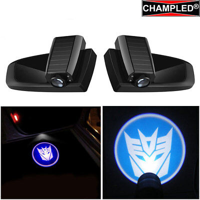 Champled Transformers B Car Led Door Projector Shadow Lights Emblem Wireless