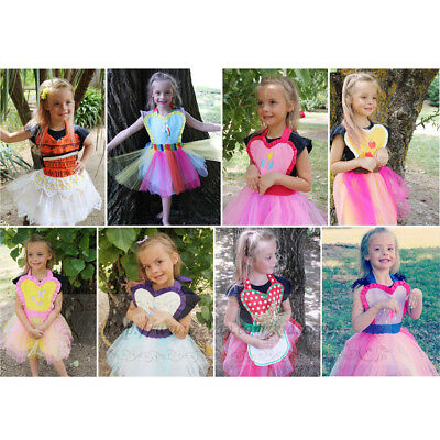 Kids Girls Toddler Princess MLP Halloween Outfit Fancy Dress Up - Mlp Halloween Dress Up