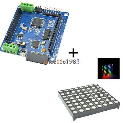 Led Rgb Matrix Module Driver Board 8x8 Dot Matrix For Arduino Avr