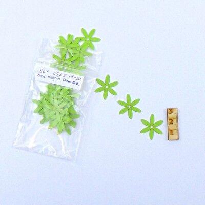 Blume aus Papier Hellgrün 25 mm 30 Stück zum Karten basteln, Scrapbooking