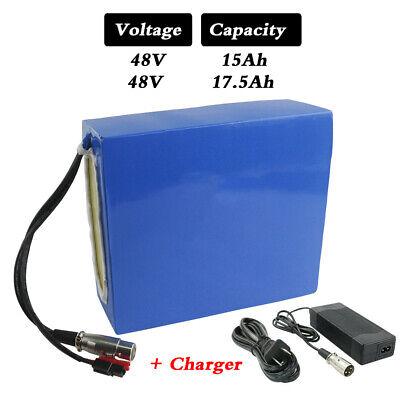 48V 15/17.5 AH Li-ion Pack Ebike Battery for 48V 1000W 750W 500W Ebike&Scooter