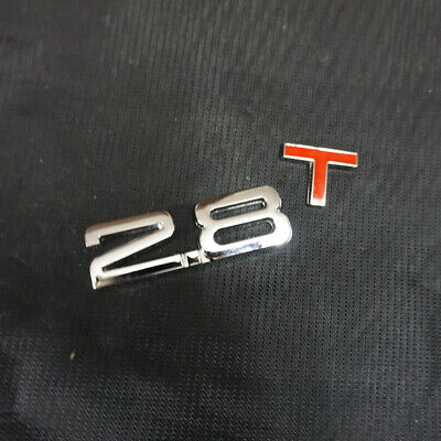 1x Metal 2.8T Chrome Sticker Emblem Badge Turbo Decal Driven Motors V6 Engine 3D
