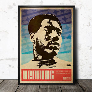 Otis Redding Art Poster Music Soul Funk Motown Stax Northern Ray Charles