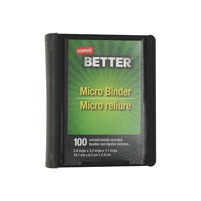 Staples Better 1-Inch Round 3-Ring Micro View Binder Black