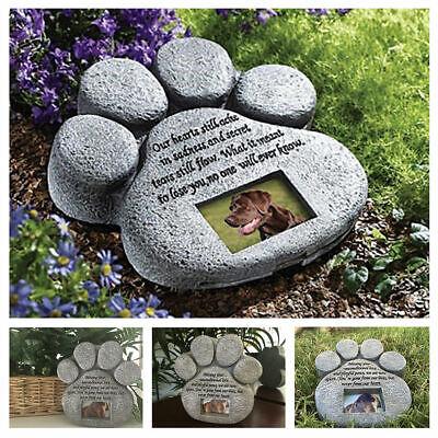 Memorial Stone Dog Cat Poem Photo Frame Keepsake Pet Memory Alive outdoor