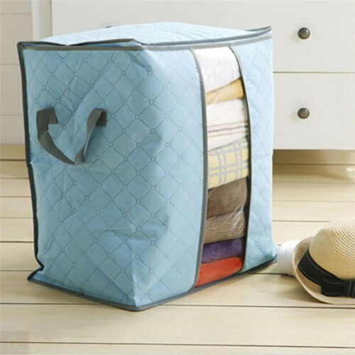 Foldable Clothes Blanket Quilt Closet Sweater Storage Bag Box Pouches Organizer Home & Garden