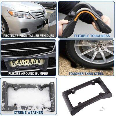 Mount License Plate Frame (Bumper Guard License Plate Frame Holder For Front Mount Bracket Car Protector )