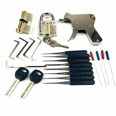 Locksmith Tools Lock Gun Transparent Practice Broken Key Extractor Pick Tool