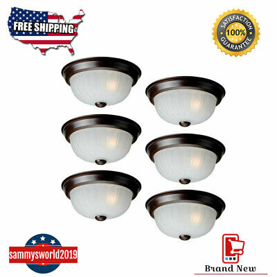 Project Source 6-Pack 10-in Bronze Flush Mount Ceiling Lighting Fixtures -