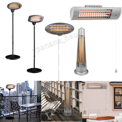 Garden Outdoor Free Standing Wall Mounted Electric Patio Heater Heat Setting BBQ