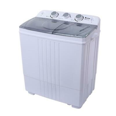 Zokop 16.5lbs Compact Washing Machine 17LBS Twin Tub Spiner Dryer Laundry Washer