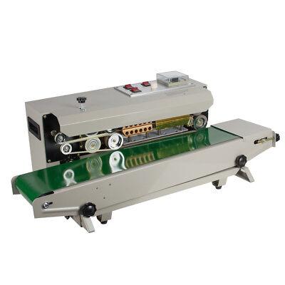 Continuous Plastic Bag Band Sealing Expiring Date Sealer Printer Machine Fr-900