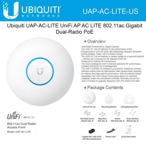 Ubiquiti UAP-AC-LITE-US UniFi Access Point Enterprise Wi-Fi System US Version