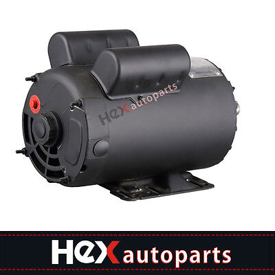 New Electric Motor 3450 Rpm Air Compressor 60 Hz 208-230 Volts B385 5 Hp Spl