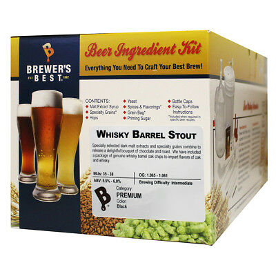 Brewers Best Whiskey Barrel Stout Ingredient Kit for Home Brew Beer (Best Home Brew Stout)