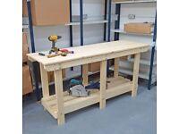 Wooden Workbench   for Sheds, Workshops & Studios   3ft 4ft 5ft - Bespoke Sizes