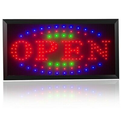 3 Color Led Light Flashing Motion Neon Open Business Sign Outdoor Store Bar Club