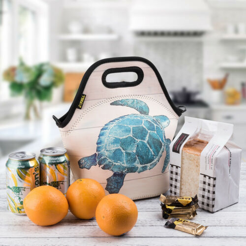 Eco Friendly Lunch Bag Insulated Women Tote Cute Sea Turtle