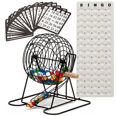 Deluxe Bingo Game Set w/Bingo Cage, Bingo Balls, 18 Bingo Cards, Masterboard Bingo Cage Set