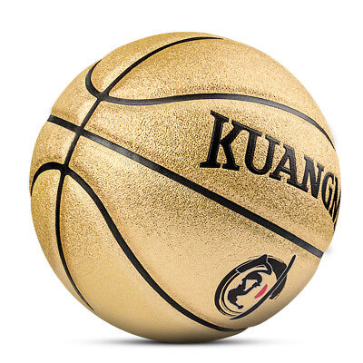 7a62540b4d6 Kuangmi Basketball for Junior Kids Child Boys Girls Gold Size 5 27.5