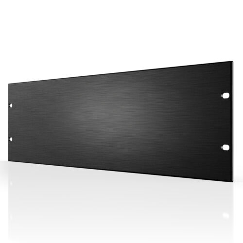 "Rack Panel Accessory Blank 3U Space for 19"" Rackmount, Premium Black Aluminum"
