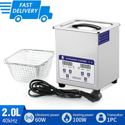 Skymen 2l Ultrasonic Cleaner Sonic Bath Cleaning Pcb Metal Parts Timer Heater