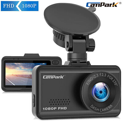 Campark Dash Cam FHD 1080P Parking Mode G-Sensor Night Vision CMOS Sensor Camera