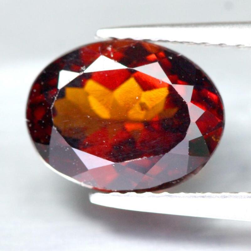 Certificate Include 2.81Cts Natural Red Orange Spessartite Garnet Oval Gemstone