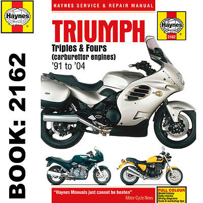 Triumph Triples Fours (Carburettor Engines) 1991-2004 Haynes Workshop Manual